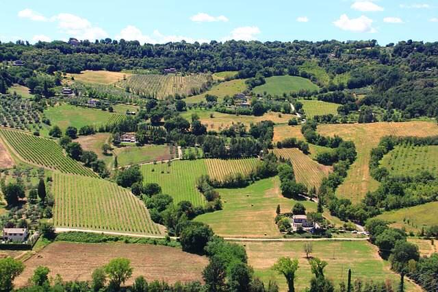 Panorama dalla città di Orvieto