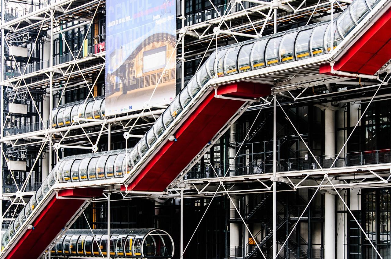 Centro Pompidou, opera di Gianfranco Franchini, Renzo Piano, Richard Rogers e Sue Rogers